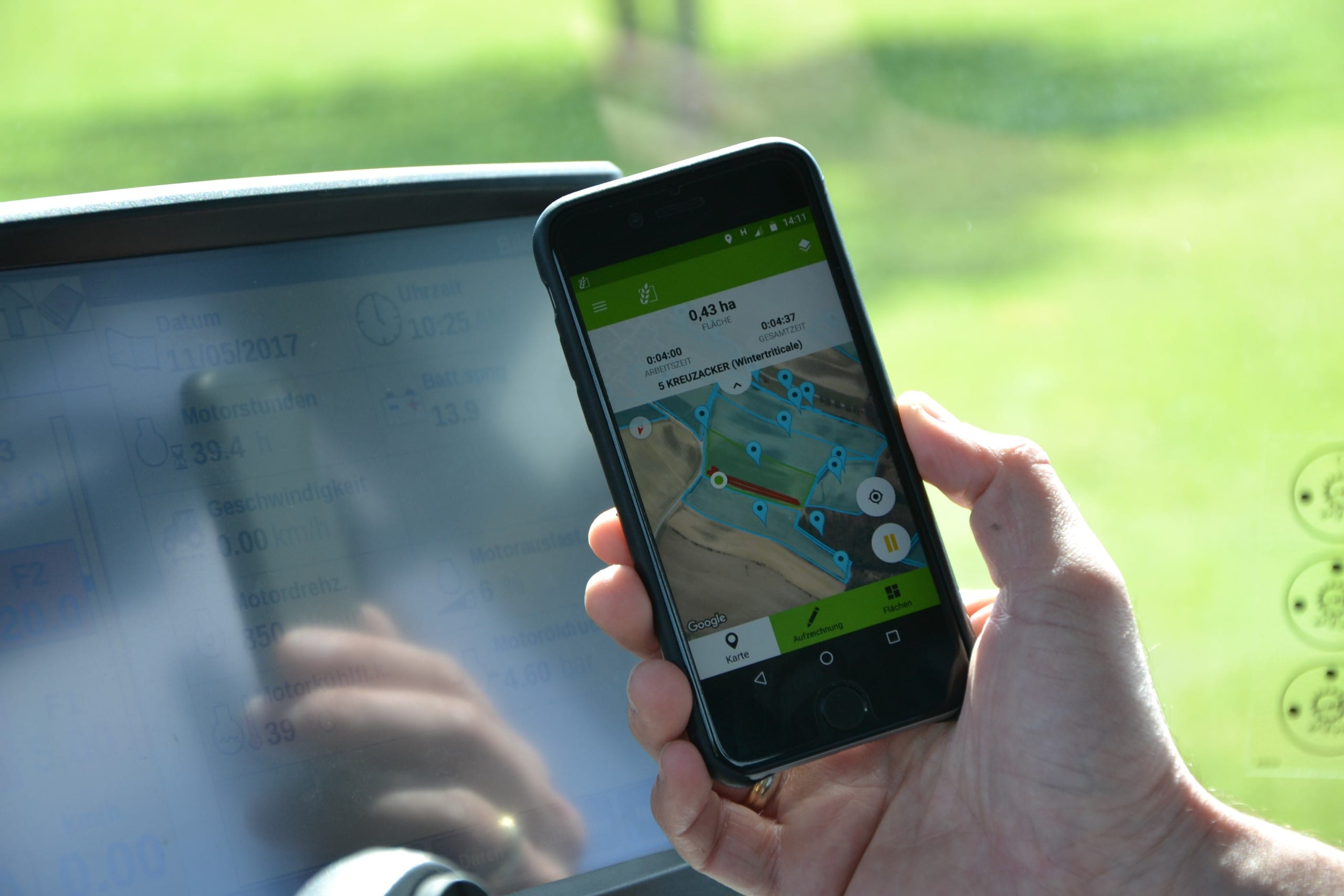 Satellitendaten - so sieht Landwirtschaft von oben aus (am Handy).