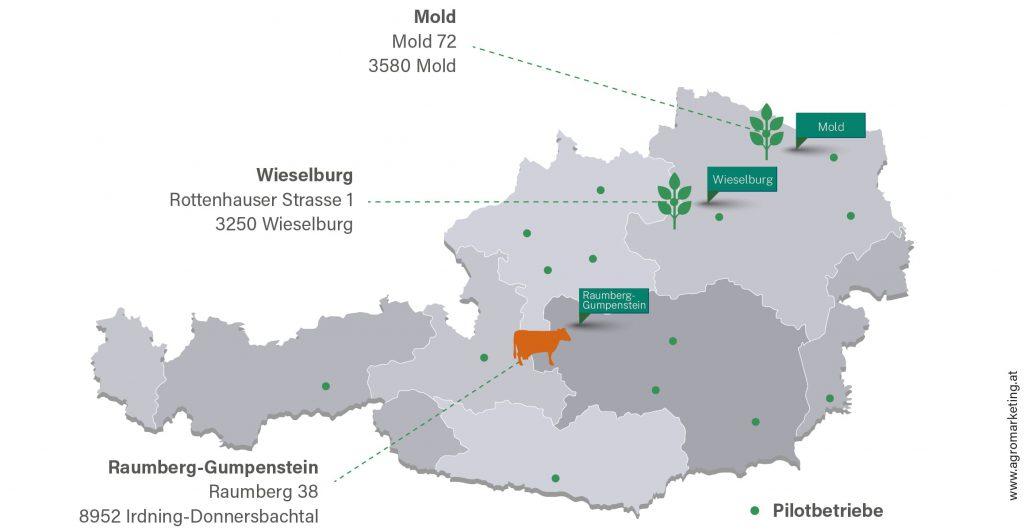 Innovation Farm Standorte im Überblick.